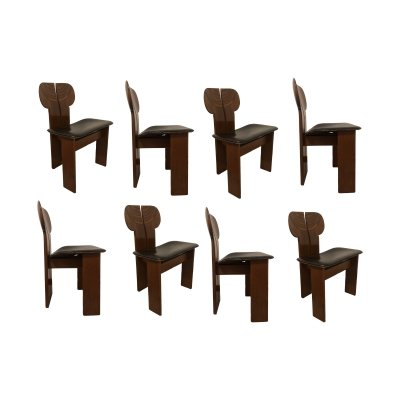 Set of 8 Africa dining chairs by Tobia Scarpa & Afra Scarpa for Maxalto, 1970s
