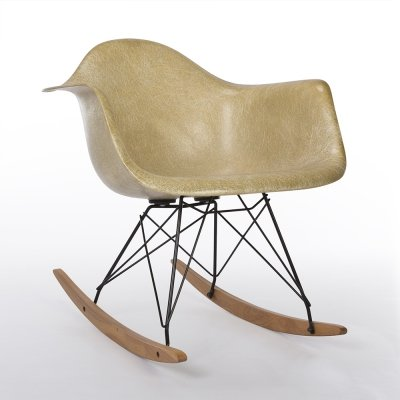 Parchment 1st Generation Zenith Original Vintage Eames RAR Rocking Arm Chair