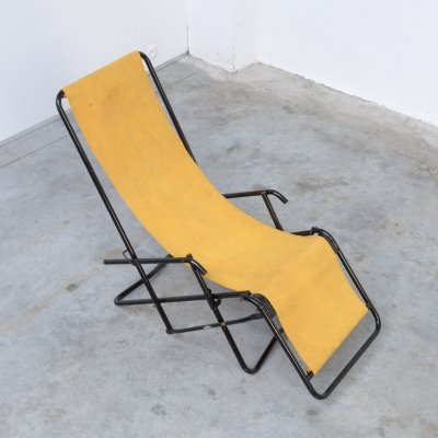 Yellow Mid-Century Modern Garden Lounge Chair