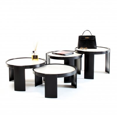 Set of 4 nesting tables by Gianfranco Frattini for Cassina, 1960s