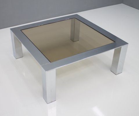 Chrome & Glass Coffee Table, 1970s