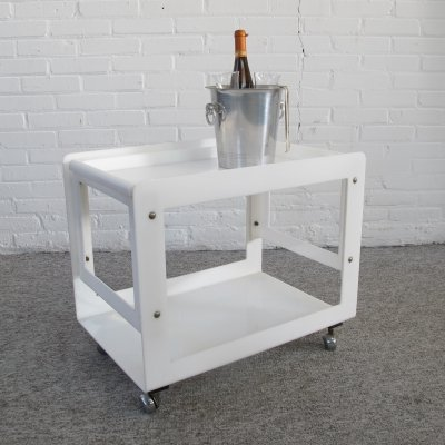 Vintage Plastic Serving trolley, 1980s