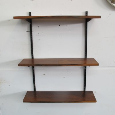 Vintage rosewood wall books rack, 1960s