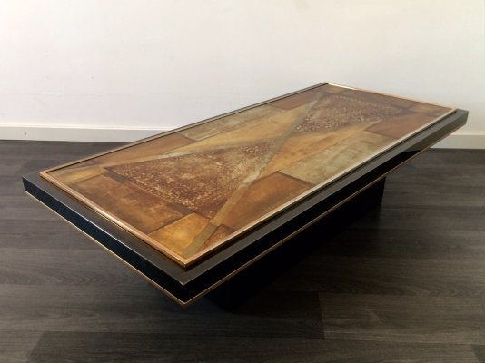 Vintage 1970's One of a kind Art Coffee Table by Lucas Meersman