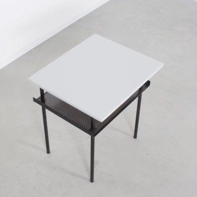Industrial Wim Rietveld Side Table, 1950s