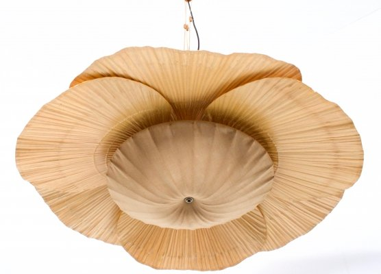 Large 'Uchiwa' Chandelier by Ingo Maurer, 1970s