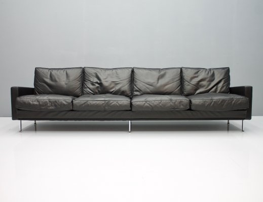 Loose Cushion Leather Sofa by George Nelson