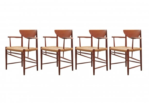 Set of Four Chairs by Peter Hvidt & Orla Mølgaard-Nielsen for Søborg Møblefabrik