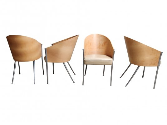 Set of 4 Vintage King Costes Chairs by Philippe Starck for Aleph Driade, 1990s