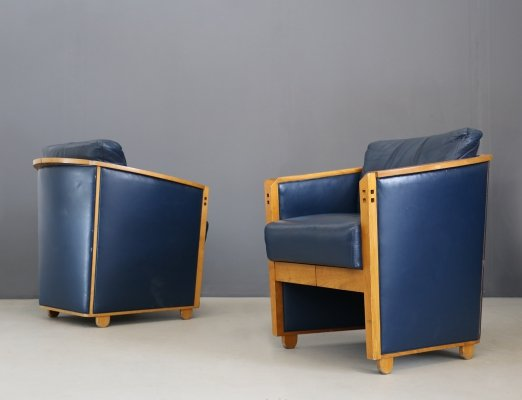 Pair of 'Project Series' Armchairs by Umberto Asnago for Giorgetti, 1990
