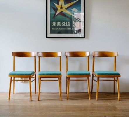 Mid Century Miroslav Navratil Dining Chairs for Thonet/TON
