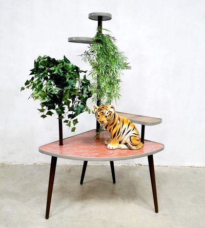 Vintage plant stand, 1950s