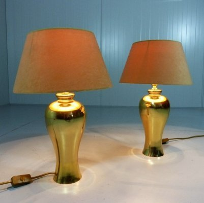 Pair of Brass Table Lamps, 1960's