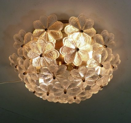Palwa Flower Ceiling Lamp, 1960's