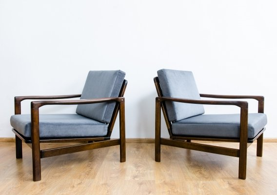 Pair of B-7752 armchairs by Zenon Bączyk, 1960's