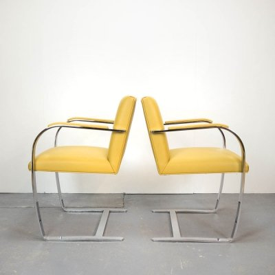 Pair of Brno Chairs by Mies van der Rohe for Knoll Studio