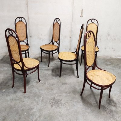 Set of 6 Thonet no. 17 dining chairs, 1980s