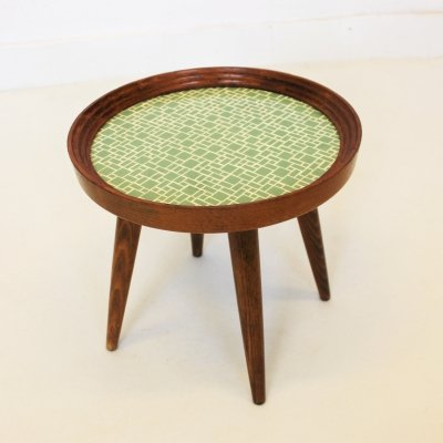 Small side table with porcelain top