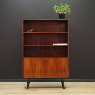 Rosewood bookcase cabinet, 1960s
