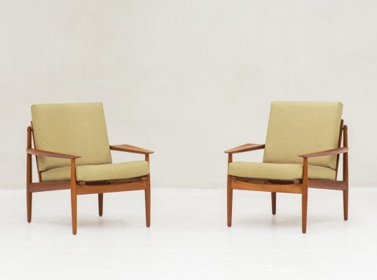 Easy chairs by Arne Vodder for Glostrup, Denmark 1960's