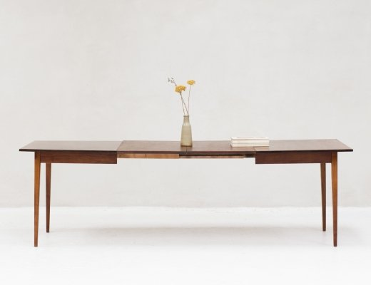 XL extendable dining table in rosewood, 1960's