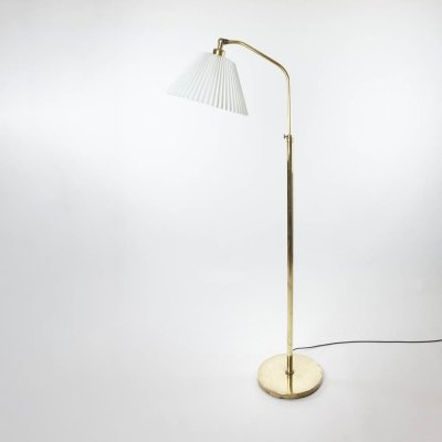 Adjustable Brass Floor Lamp by Lyfa, Denmark 1930s