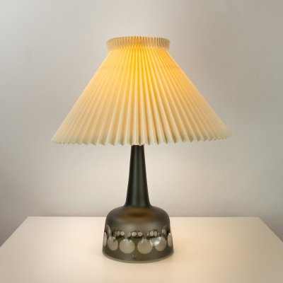 Kosta Boda Glass Table Lamp by Ove Sandeberg, Sweden