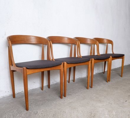 Set of 4 Teak Dining Chairs by Johannes Andersen for Uldum