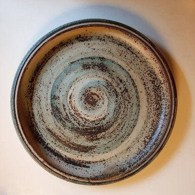 Circular Dish with Sung Glaze by Carl Halier for Royal Copenhagen, 1960s
