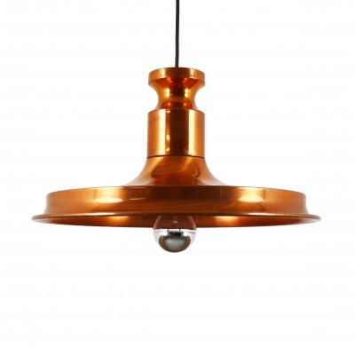 Patinated copper pendant light, 1960s