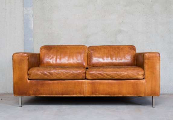 Leather sofa by Durlet, Belgium 1970s