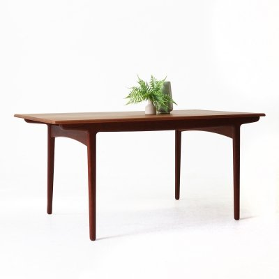 Extendible Mid-Century Scandinavian Teak Dining Table