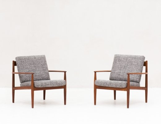 Set of two easy chairs model 118 by Grete Jalk for France & Son, Denmark 1962