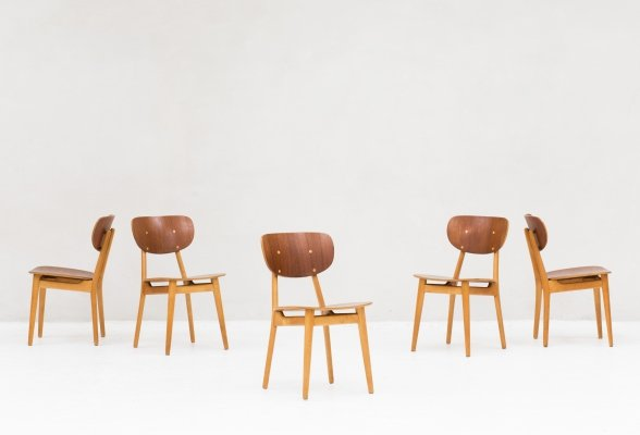 Dining chairs 'SB13' by Cees Braakman for Pastoe, Dutch design 1950's