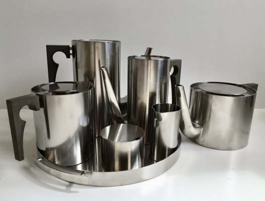 Stainless Steel 'Cylinda Line' Tea & Coffee set by Arne Jacobsen for Stelton