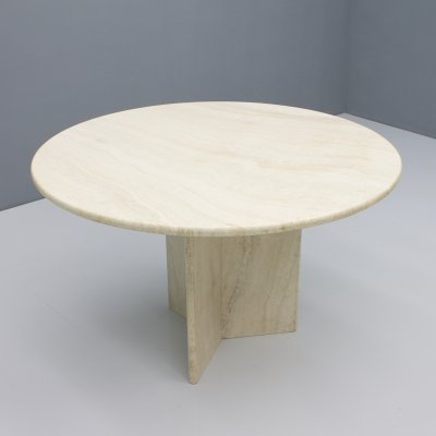 Italian Travertine Dining table, 1970s