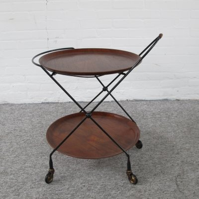Serving trolley by Jie Gantofta, Sweden 1950