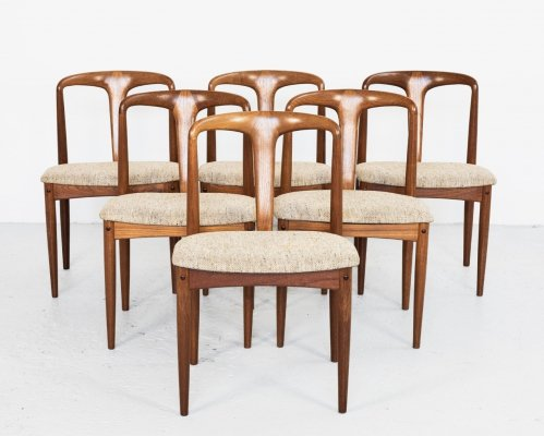 Set of 6 Juliane dining chairs by Johannes Andersen for Uldum Møbelfabrik, 1960s