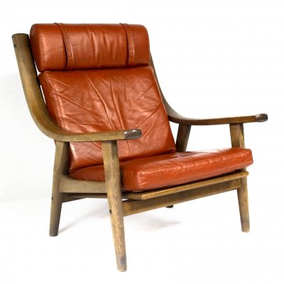 Vintage Danish GE 530 Highback Chair by Hans J. Wegner for Getama