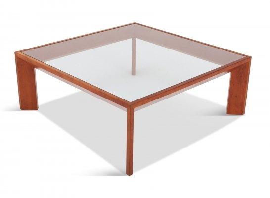 Modernist French Square Coffee Table in Elm, 1935