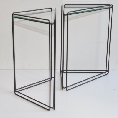 Pair of triangular 'Isocele' night stands by Max Sauze for Atrow, 1960s
