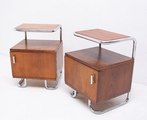 Pair of Bauhaus night stands by Kovona, 1950s