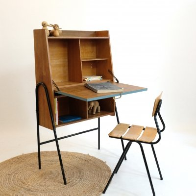 French writing desk with a tubular structure, 1960s