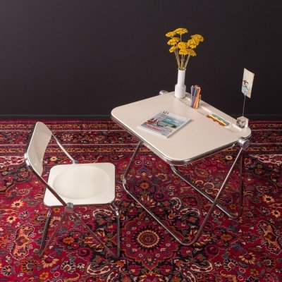 Set of desk & chair by Giancarlo Piretti for Castelli, 1960s