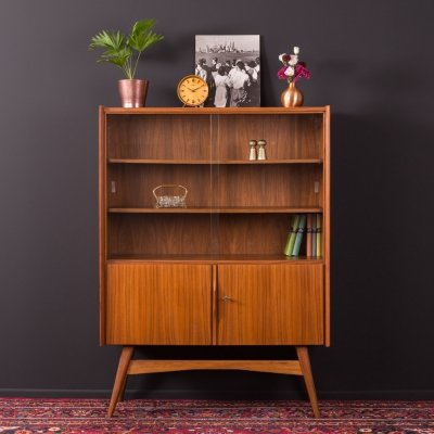 Walnut showcase, Germany 1950s