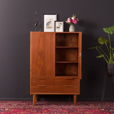 Teak cabinet with drawers, Denmark 1950s