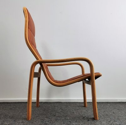 Swedese 'Melano' High Back Easy Chair by Yngve Ekstrom, 1970's