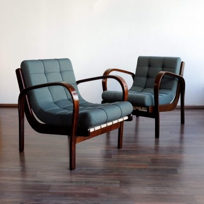 Pair of arm chairs by Karel Kozelka & A. Kropacek for Interier Praha, 1940s