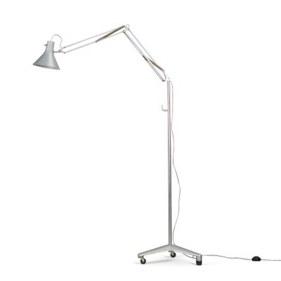 Aluminum floorlamp Luxo L1 by Jac Jacobsen for Luxo, 1970s