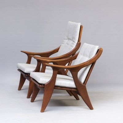 Pair of 'the Knot' chairs by De Ster Gelderland, 1960s